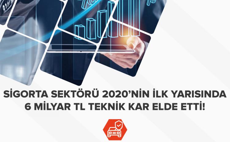 Sigorta Sektörü 2020'nin ilk Yarısında 6 milyar TL Kar